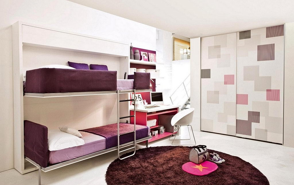 Bedroom Simple Space Saving Bedroom Furniture Ideas With Brown Carpet And White Ceiling Color Creative Folding Space Saving Bunk Beds Ideas Bedroom Creative Folding Space Saving Bunk Beds Ideas j/fit folding space saving x bike.bunk beds ideas bunk bed ideas for 3 bunk bed ideas designs