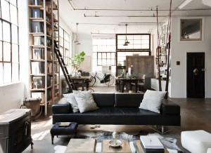 industrial designed living room