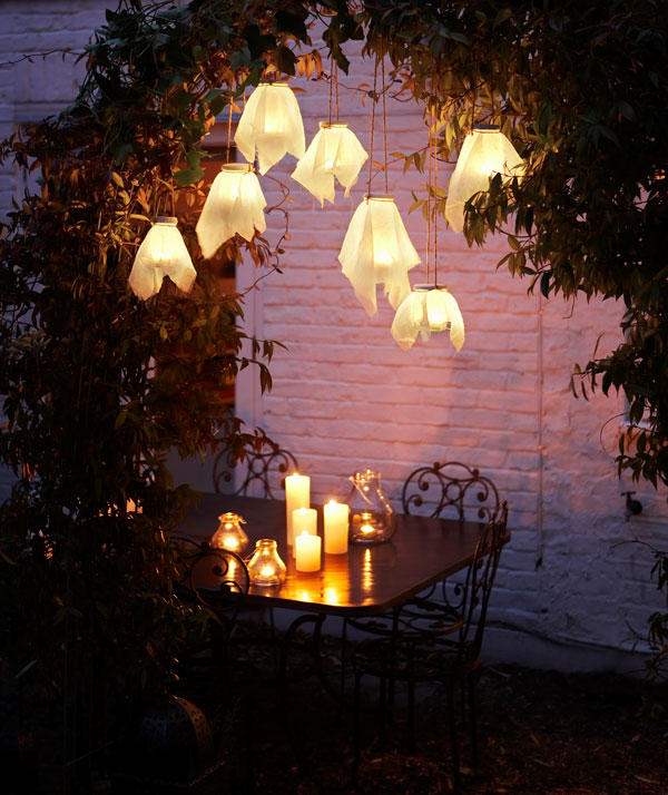 Hanging firefly glass lanterns