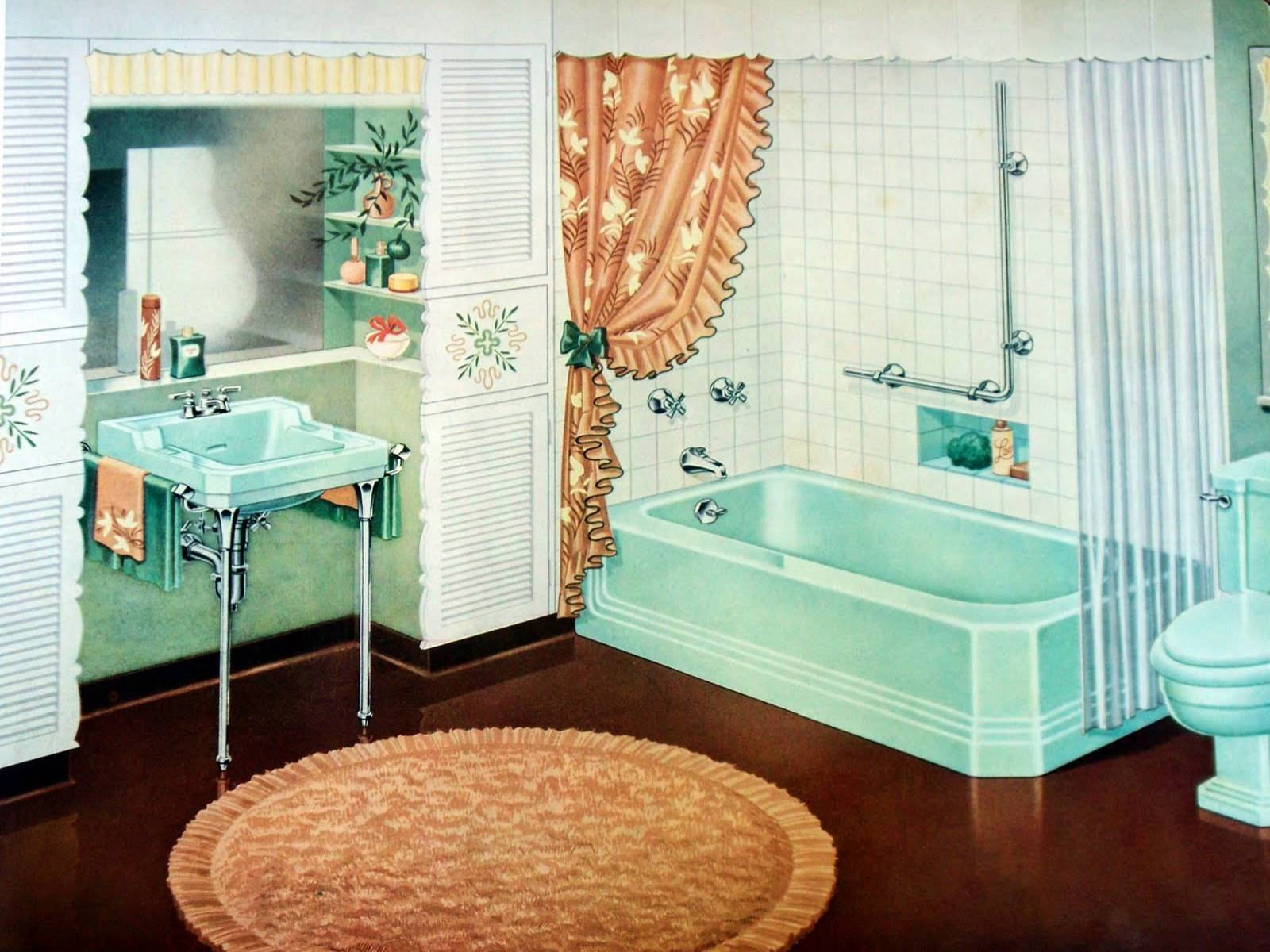 1940s bathrooms