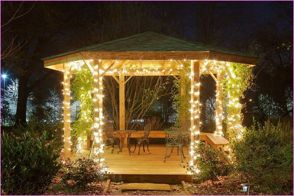 outside gazebo lighting