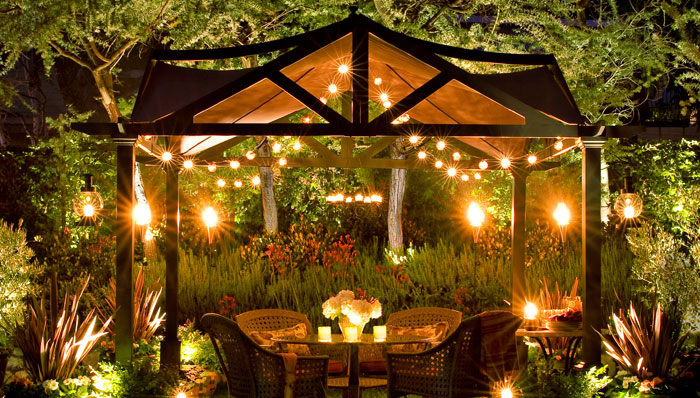 small gazebo decorating ideas
