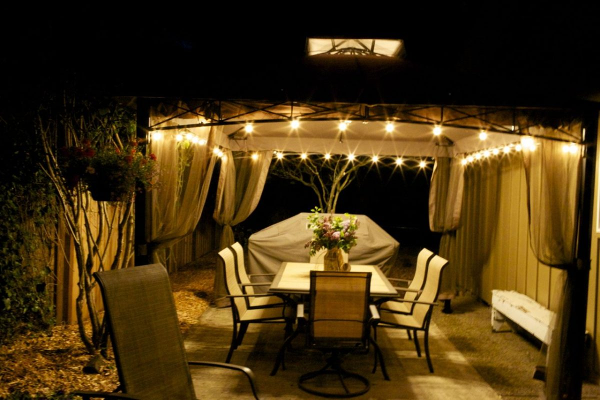 lighting ideas for a gazebo