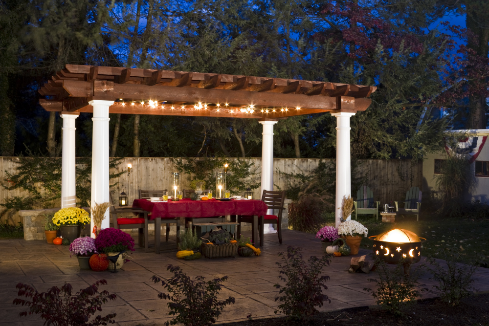 backyard lighting ideas for gazebo and patio