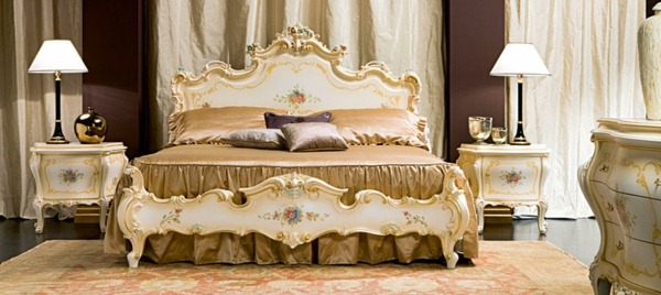 bedroom design in style baroque