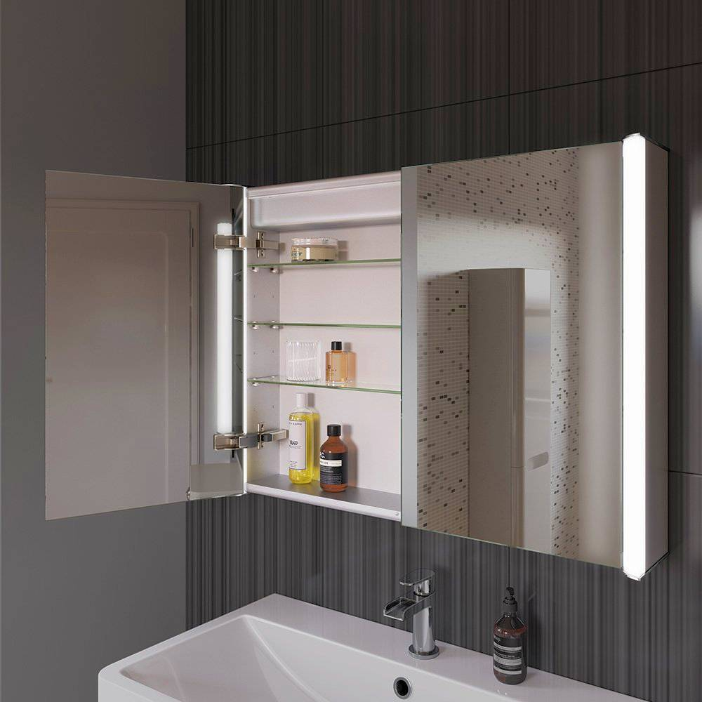 Bathroom Mirror Cabinet Light Shaver Socket