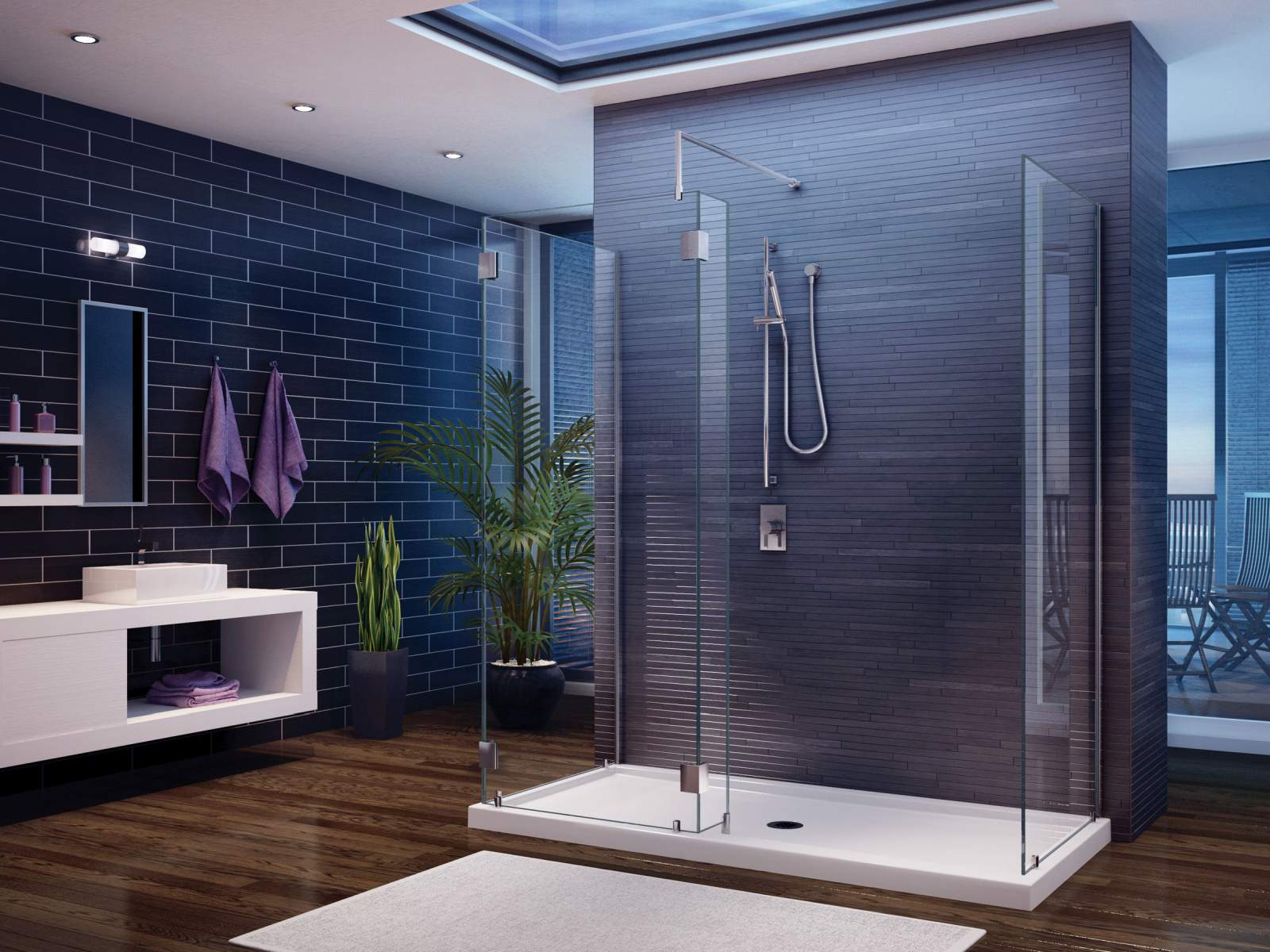 Amazing bathroom shower design idea